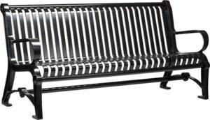 hv6-6ft-park-bench-with-cast-aluminum-frame-and-metal-slats